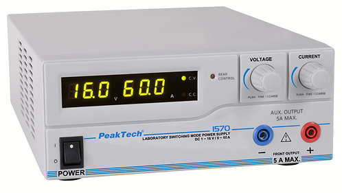 Peaktech P1570 DC Power Supply 960W Switching Mode 16V 60A USB