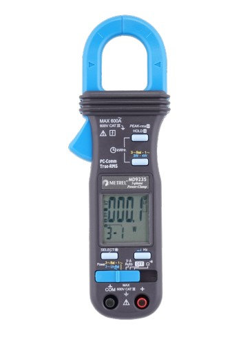 Metrel MD9235 TRMS Power Clamp Meter, 3-Phase, Unbalanced-Load Clampmeter