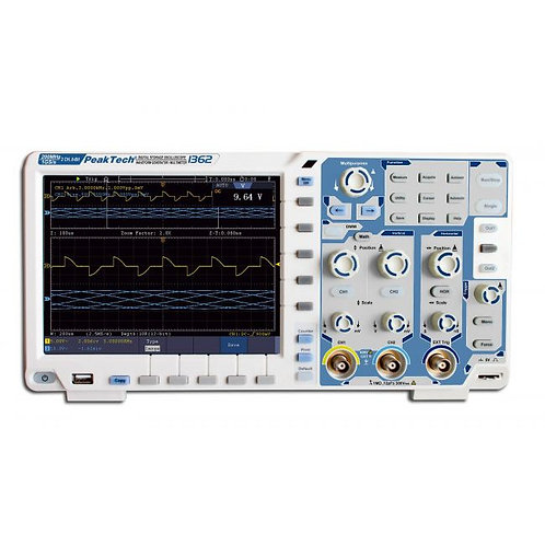 Peaktech P1362 Oscilloscope - 200 MHz / 2 CH, 2 GS/s and Touchscreen