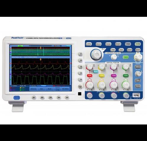 Peaktech P1295 Oscilloscope 100 MHz 4 CH 1 GS/s Touchscreen