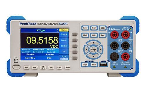 Peaktech P4096 5 1/2 Digit Graphical Bench Multimeter TFT RS-232 USB LAN DMM