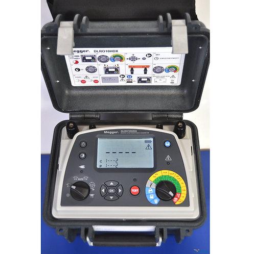 Megger DLRO10HDX 10A Digital Low Resistance Ohmmeter NIST Calibrated & Warranty