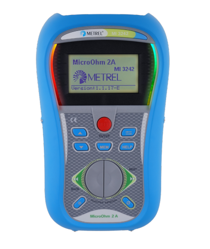 Metrel MI 3242 MicroOhm 2A DLRO Low Resistance Ohmmeter 1 μΩ up to 199.9 Ω