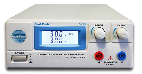 Peaktech P6160 Laboratory DC Power Supply Switching Mode 900W 30V 30A