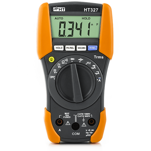 HT Instruments HT327 Professional CAT IV Multimeter with AC/DC Measure 10A.
