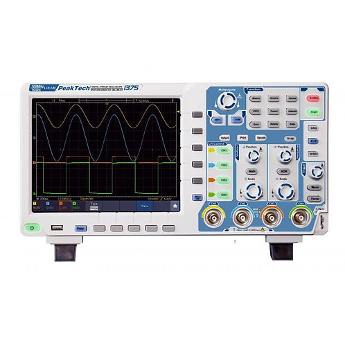 Peaktech P1375 Oscilloscope - 100 MHz / 4 CH, 1 GS/s and Touchscreen