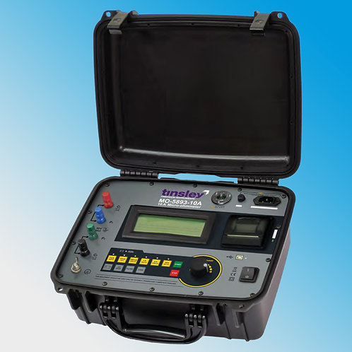 Tinsley MO-5893-10A Portable Digital Micro-ohmmeter 10 Amp DLRO