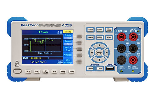 Peaktech P4095 4 1/2 Digit Graphical Bench Multimeter TFT 4.5 Digits