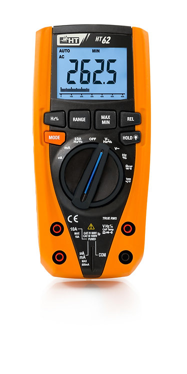 HT Instruments HT62 TRMS Digital Multimeter with Temperature Measurement