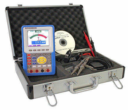 Peaktech P1195 100 MHz 2 CH 1 GS/s Handheld Oscilloscope Digital Multimeter