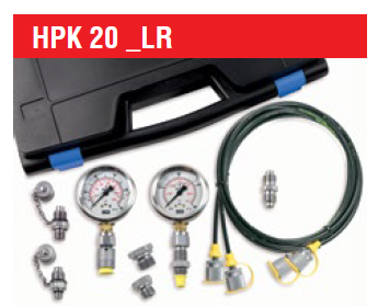 LR-Smart Tech HPK-20 Hydraulic Test Case with x2 Analogue Gauges 0 - 5800 PSI