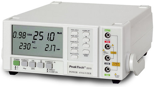 Peaktech P2510 1-Phase Power Meter Single Phase Power Analyzer