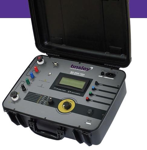 Tinsley MO-5898-100A 100 Amp Digital Micro-Ohmmeter (1mA to 100A) 200 Ω DLRO