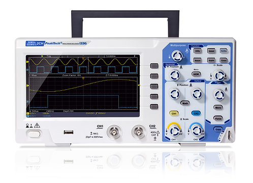 Peaktech P1336 Digital Storage Oscilloscope 50MHz 2 CH 500 MS/s DSO