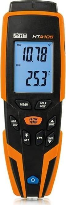 HT Instruments HTA105 Hot Wire Digital Anemometer - Air Temperature Measurement