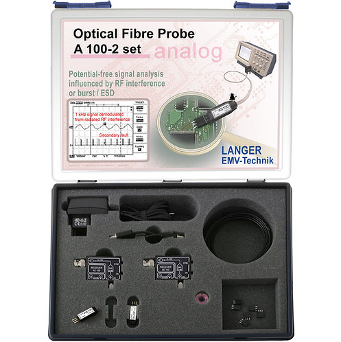 Langer EMV A100-2 Set Optical Fibre Probe 2-channel, 25 kHz