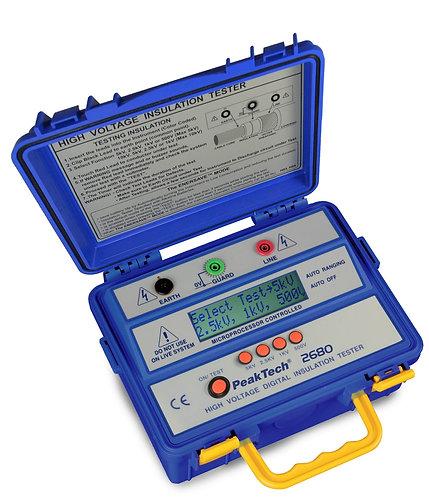 Peaktech P2680 5kV Insulation Tester Megohmmeter 5000V 300GΩ Megger