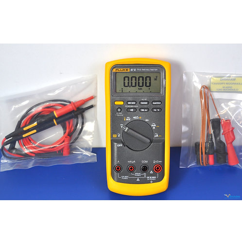 Fluke 87V True RMS Industrial Multimeter - NIST Calibrated with Data