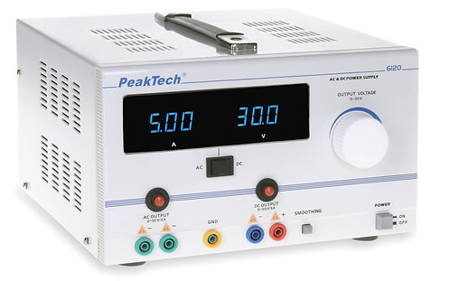Peaktech P6120 AC/DC Laboratory Power Supply 150W 30V 5A