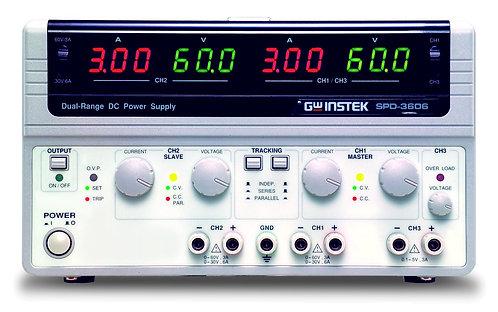 GW Instek SPD-3606 Multiple Output Dual Range DC Power Supply 5V 3A