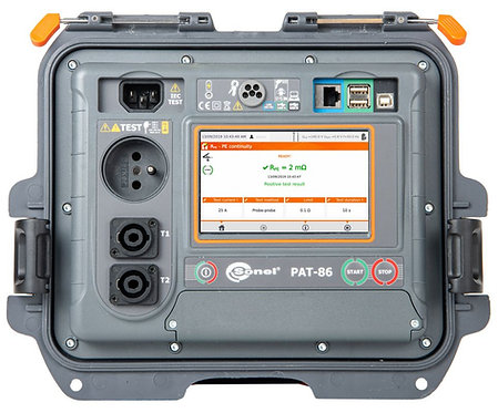 Sonel PAT-86 Portable Appliance Tester CAT II 300V Touchscreen RCD PRCD