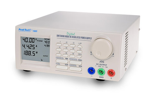Peaktech P1885 Programmable DC Power Supply 40V 5A Switching Mode