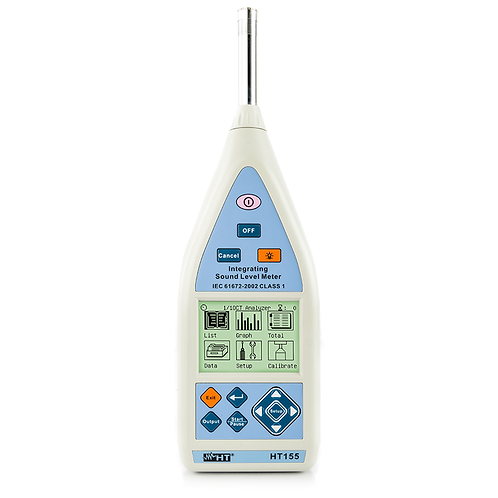 HT Instruments HT155 Digital Integrating Decibel Meter Class 1 25 to 140dB Sound