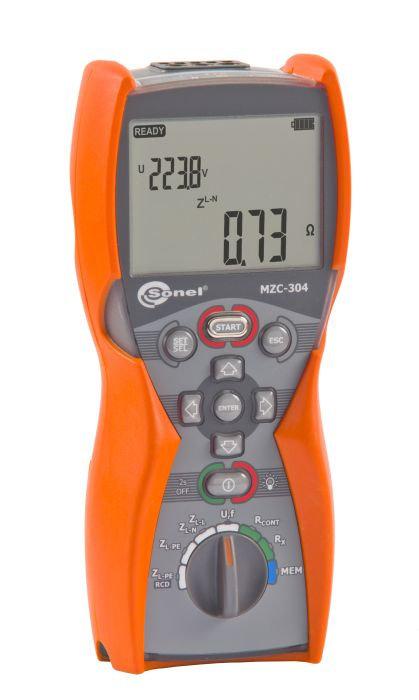 Sonel - MZC-304 Loop Meter, IP67, RCD, 200mA Continuity