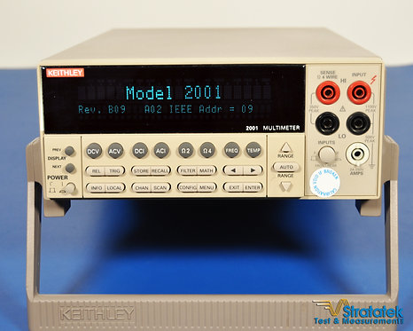 Keithley 2001 7.5 Digit Multimeter - NIST Calibrated with Warranty