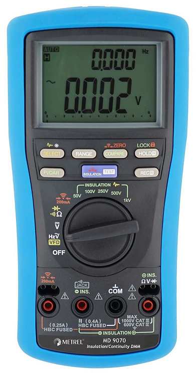 Metrel MD 9070 TRMS Insulation Continuity Digital Multimeter DMM 600V
