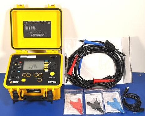 AEMC 5050 5kV MegOhmMeter Insulation, DAR, PI, DD Tester NIST Calibrated
