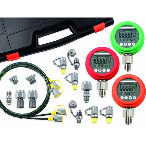 LR-Smart Tech HPKD-30 Hydraulic Test Case with x3 Digital Gauges 0 - 8700 PS