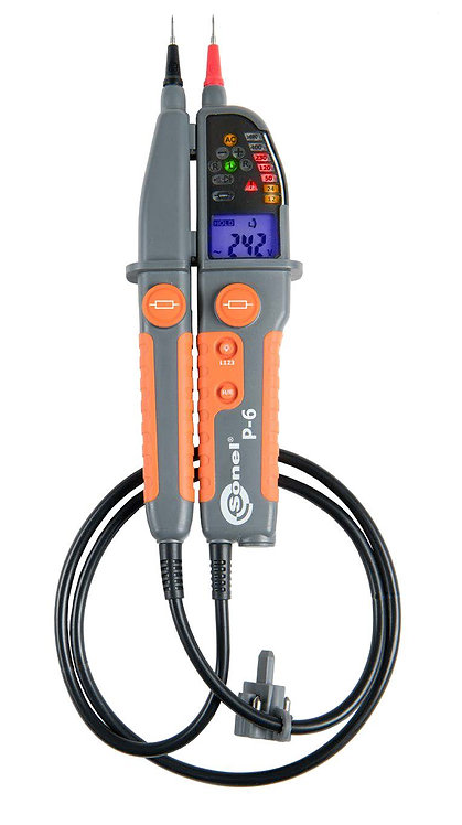 Sonel P-6 Voltage Tester CAT III 1000V 1999 Ω Phase Identification