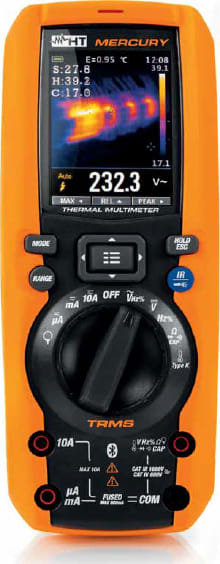 HT Instruments MERCURY TRMS DMM Multimeter w/IR Camera, 1000VDC, 10A Resistance