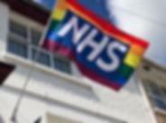 NHS rainbow flag
