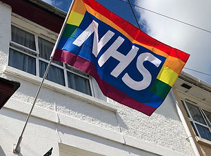 NHS rainbow flag