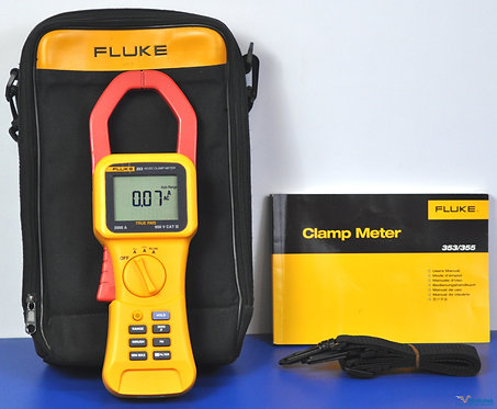 Fluke 353 AC/DC True RMS Clamp Meter 2000A 600V - NIST Calibrated with Warranty