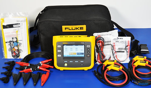 Fluke 1738 Advanced 3 Phase Power Logger 1500A Probes - NIST Calibrated