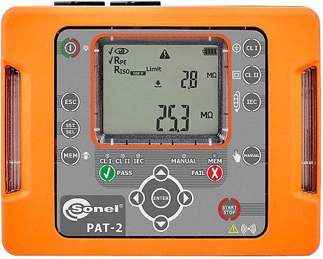 Sonel -PAT-2 Portable Appliance Tester, LED, IP40, WiFi, CAT III 300V