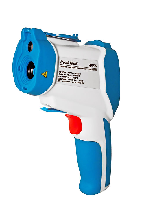 Peaktech P4955 IR Thermometer Infrared-Video Camera Dual Laser -50°C to +2200°C