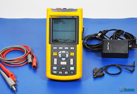 Fluke 124 Industrial ScopeMeter 40MHz Oscilloscope NIST Calibrated with Warranty