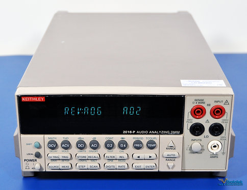 Keithley 2016-P 6.5 Digit Audio Analyzing DMM THD Multimeter NIST Calibrated