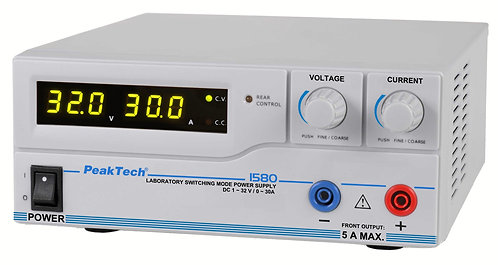 Peaktech P1580 DC Power Supply 960W Switching Mode 32V 30A USB
