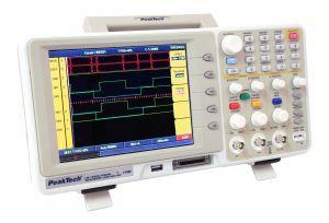 Peaktech P1190 100 MHz/2 CH Digital Storage Oscillosope 16 CH Logic Analyzer