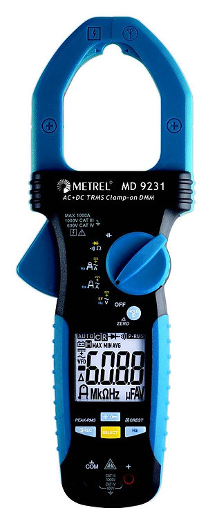 Metrel MD9231 Industrial TRMS AC/DC Current Clamp Meter Clampmeter