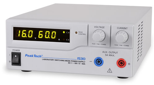 Peaktech P1530 DC Power Supply 960W Switching Mode 16V 60A