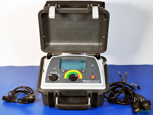 Megger DLRO10HD 10A Digital Low Resistance Ohmmeter with Leads NIST Calibrated