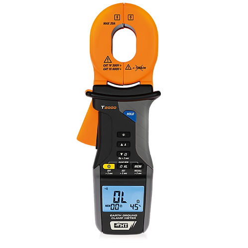 HT Instruments - T2000 Earth/Ground Clamp Meter/Resistance AC to 20A