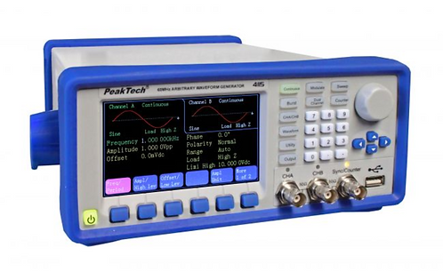 Peaktech P4115 2 Channel Arbitrary Signal Generator 1 μHz - 60 MHz