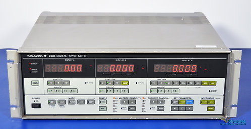 Yokogawa 2533-13 Digital Power Meter 3-Phase NIST Calibrated Three Phase